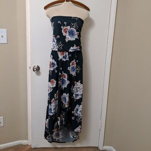 NWT Maurices strapless high low floral dress